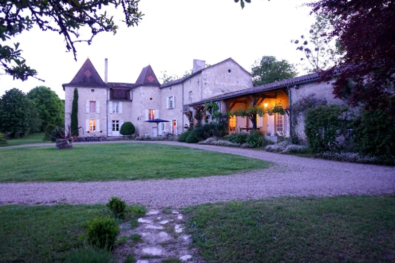 Academy france chateau by night