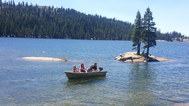 Shannon cabin boat lake alpine