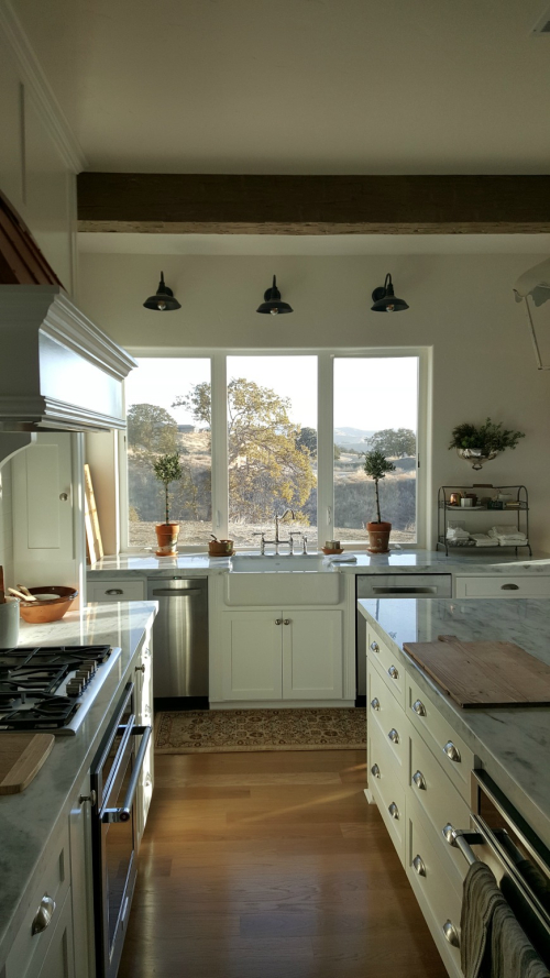 Poppy hill kitchen sink and view