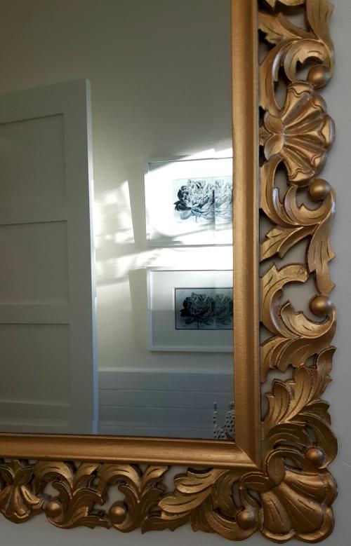 Poppy hill gold bathroom mirror