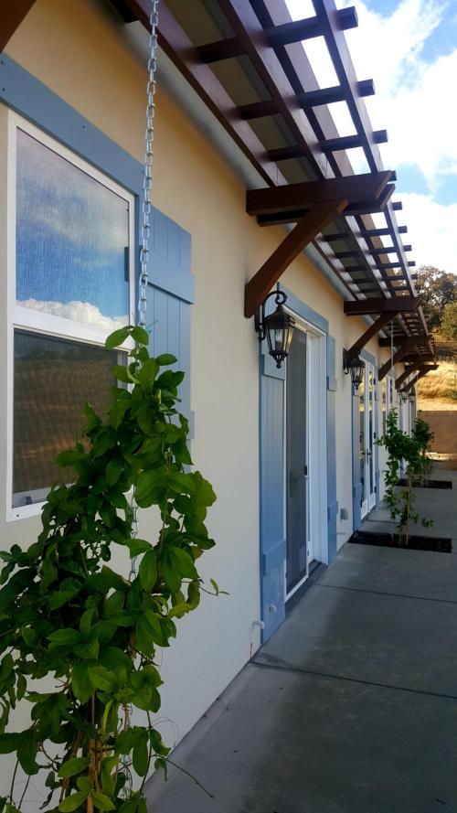 Poppy hill shutters on house back