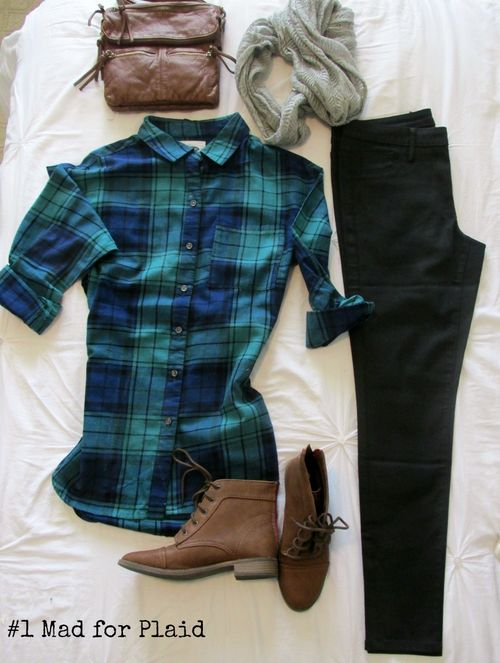 Bike outfit mad for plaid