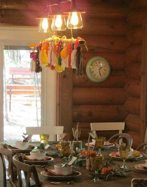 Enchanted fall table tassels