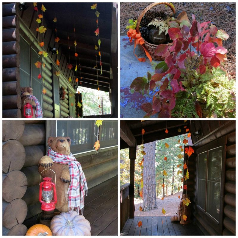 Fall cabin decorations Collage