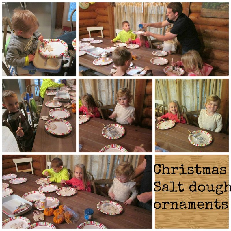 Cabin christmas crafting Collage
