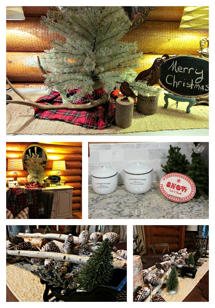 Cabin Christmas Collage