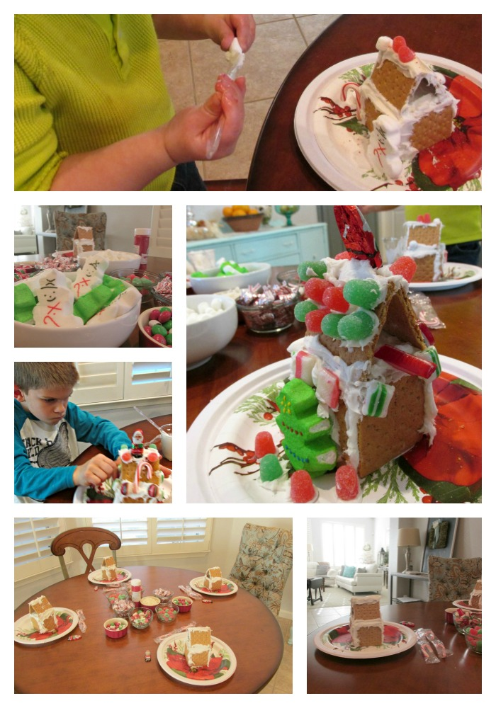 Christmas house making Collage