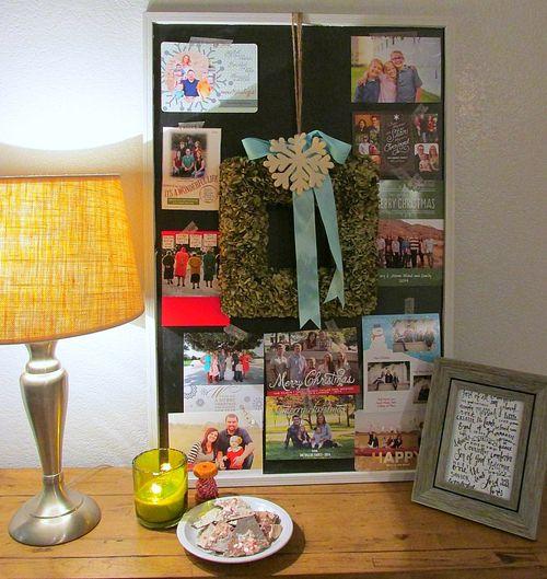 Chalkboard Christmas card display
