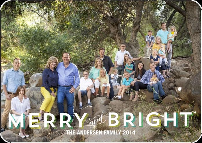 Family christmas card 2014