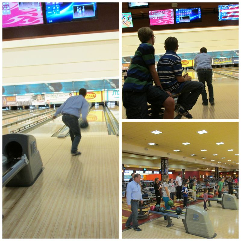 Christmas bowling Collage