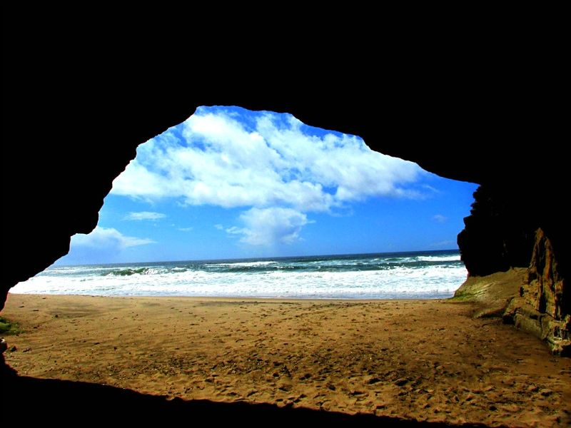Pomponio state beach cave 3
