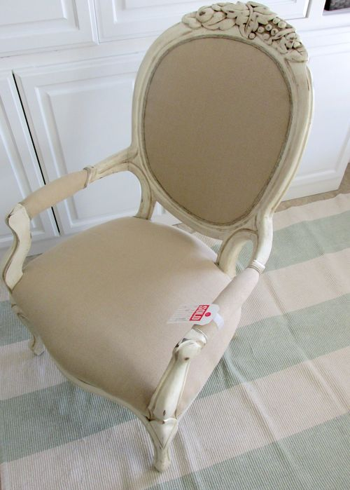 Burlap french chair
