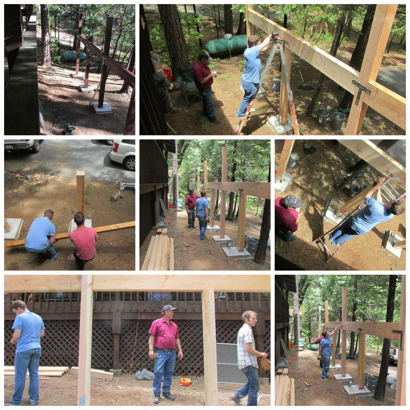 Cabin deck Collage