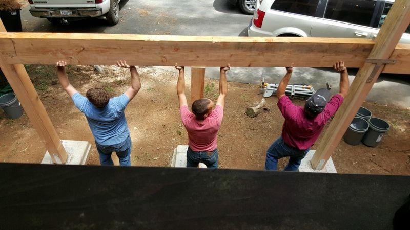 Cabin work day beam boys