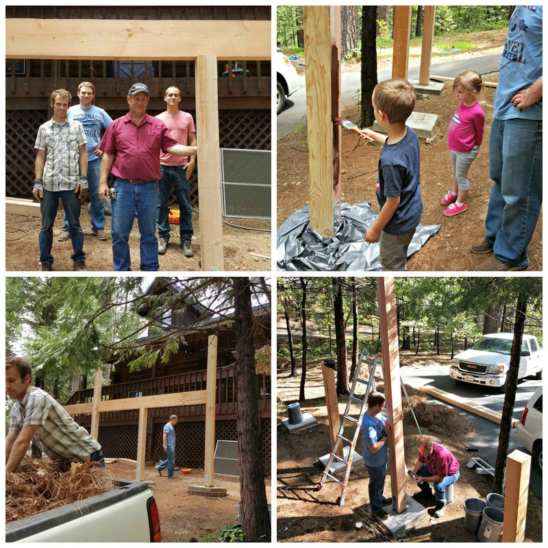 Cabin may 2015 work day  Collage