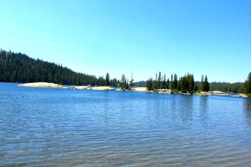 Alpine lake islands