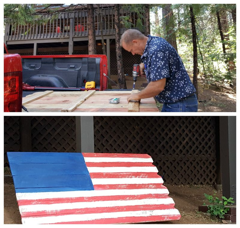 Cabin flag  Collage