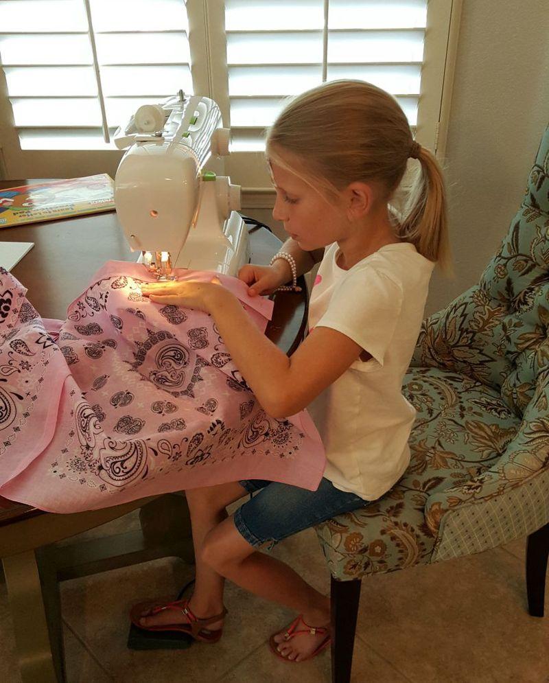 Carlee sewing pink bag 2015