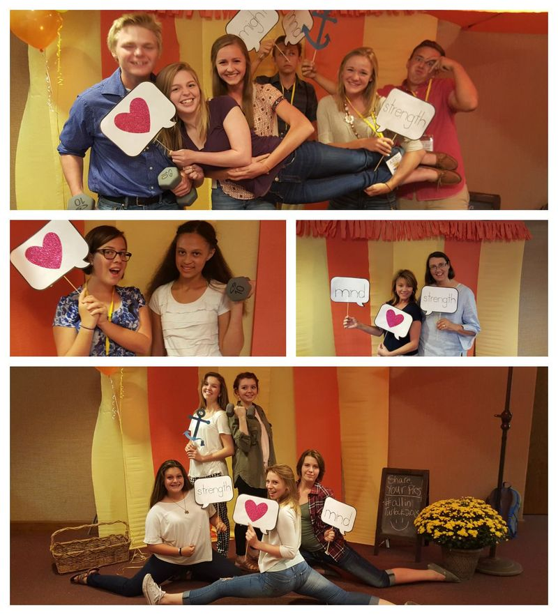 All in youth conference photo booth Collage