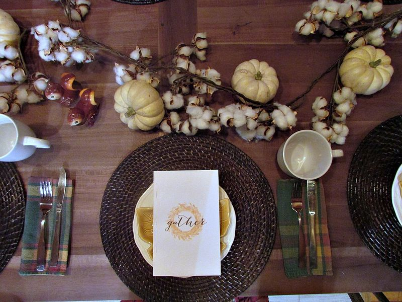 Fall- gather table decor 1