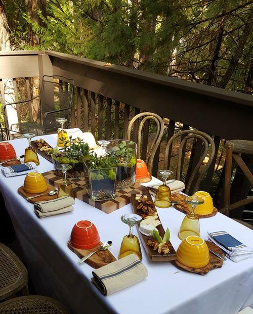 Fall- terrarium table set