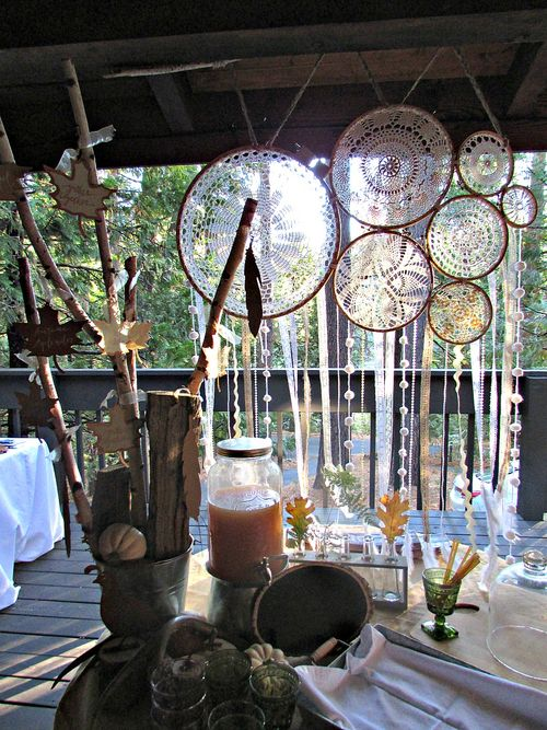 Fall- dream catcher table