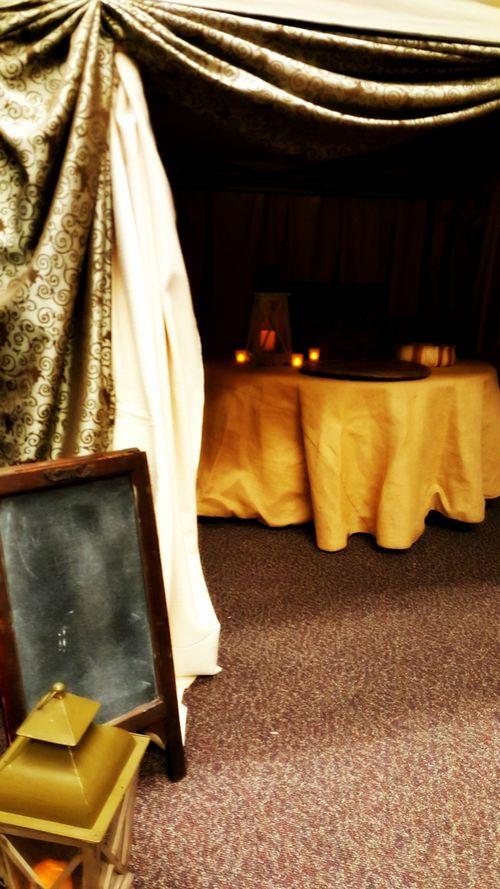 A night in Bethlehem- my tent blackboard