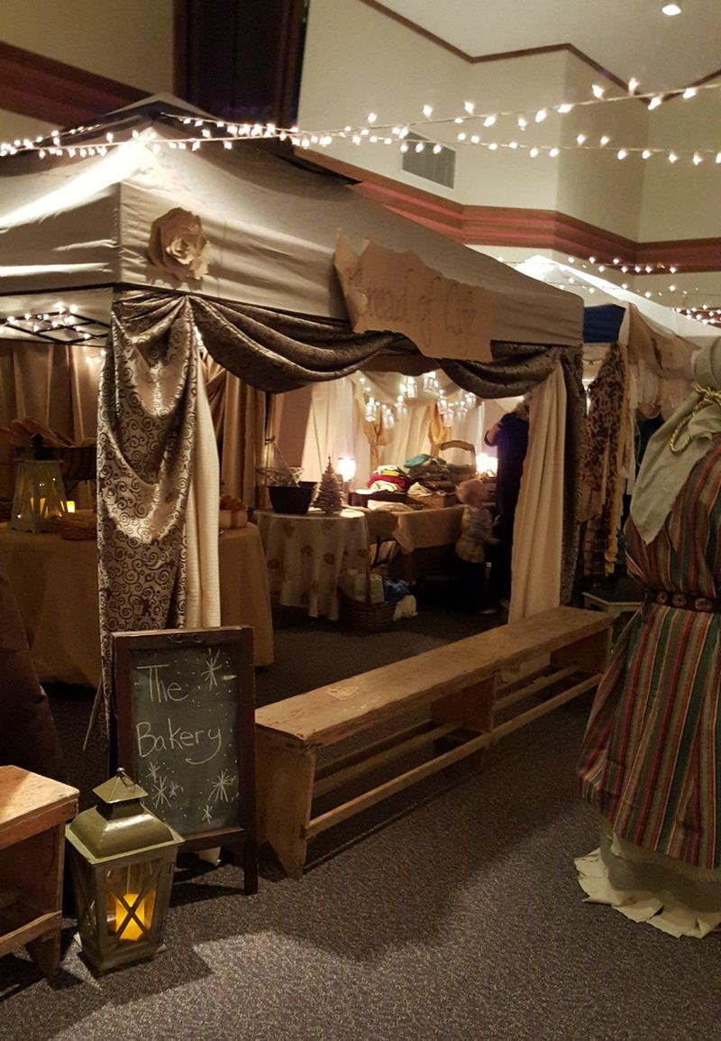 A Night in Bethlehem- bread of life and benches