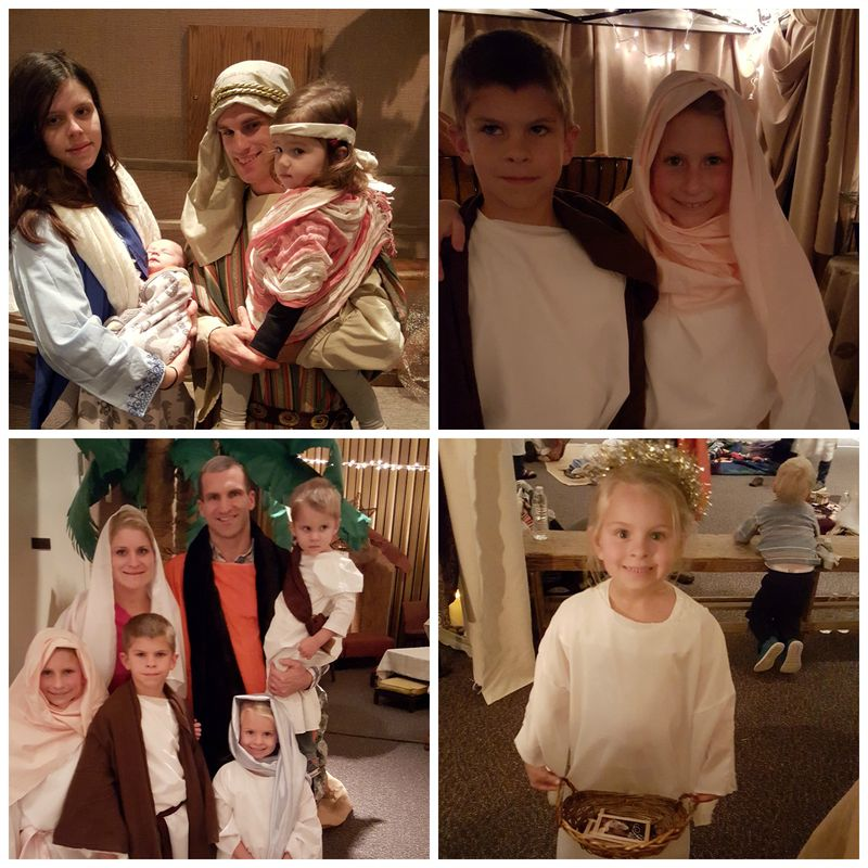 A night in Bethlehem- my kids Collage