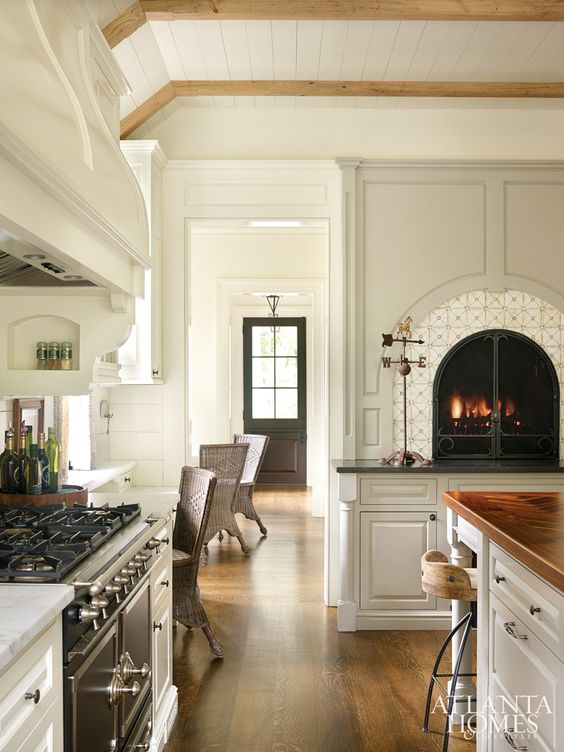 Poppy hill dinning room fireplace inspiration