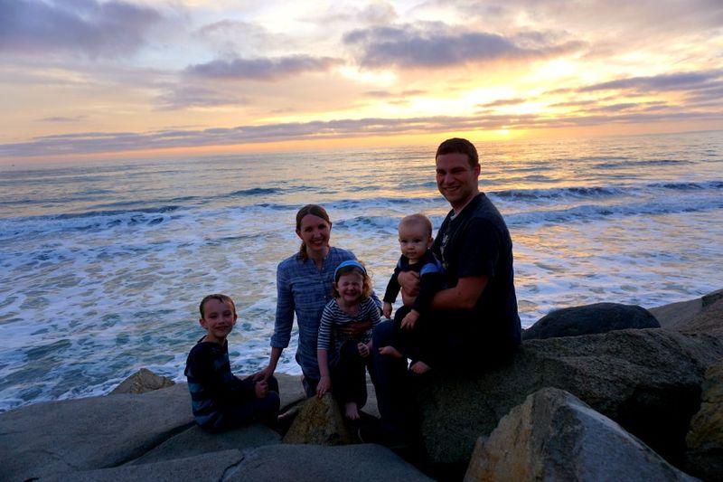 Oceanside218 family sunset pic ellie silly