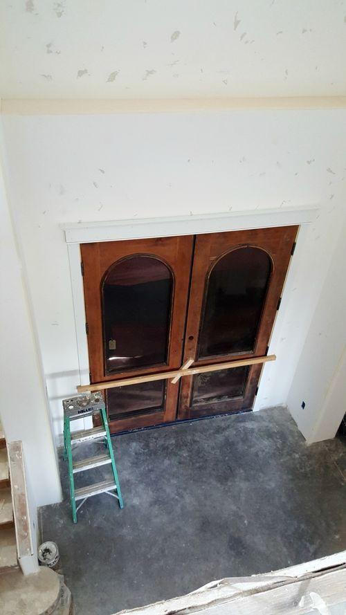 Poppy hill front doors wood brace