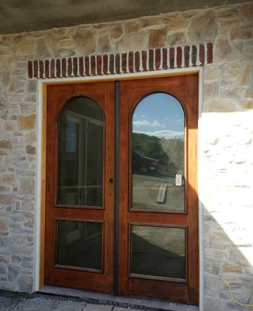Poppy hill front doors brick