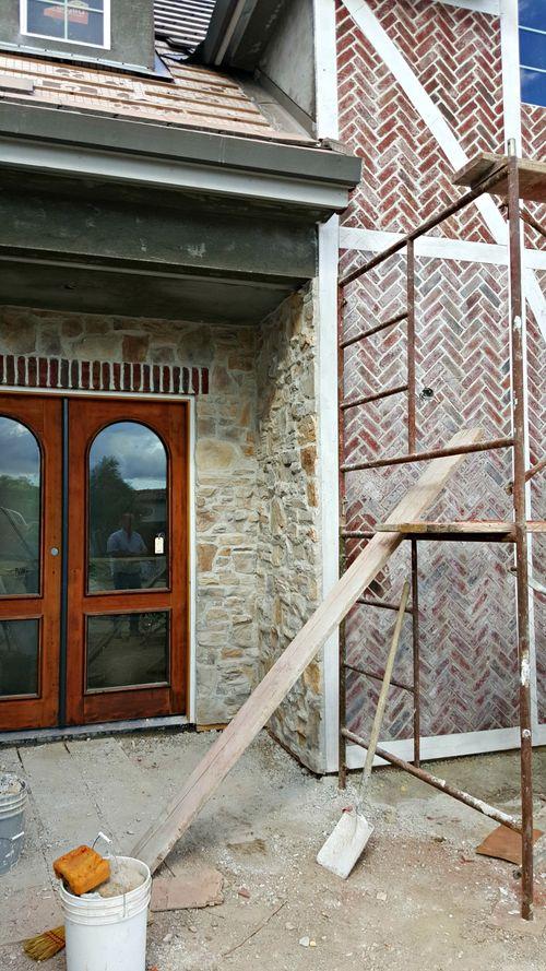 Poppy hill brick and scaffolding