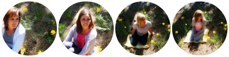 Cabin daffodil day daffodils girls 1 Collage