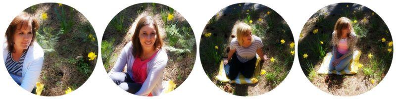 Cabin daffodil day daffodils girls 1 Collage