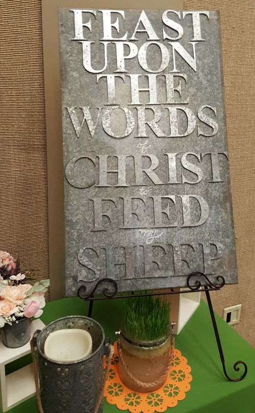 Relief society feast upon the words