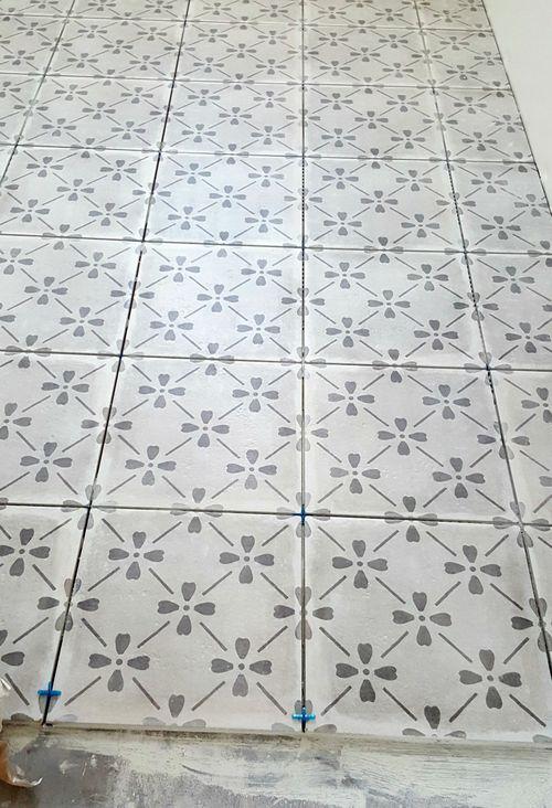 Poppy hill guest bathroom tile
