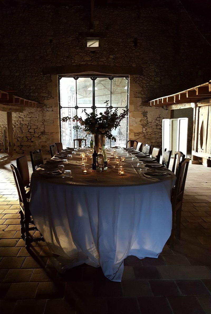 Academy france dinner in the barn