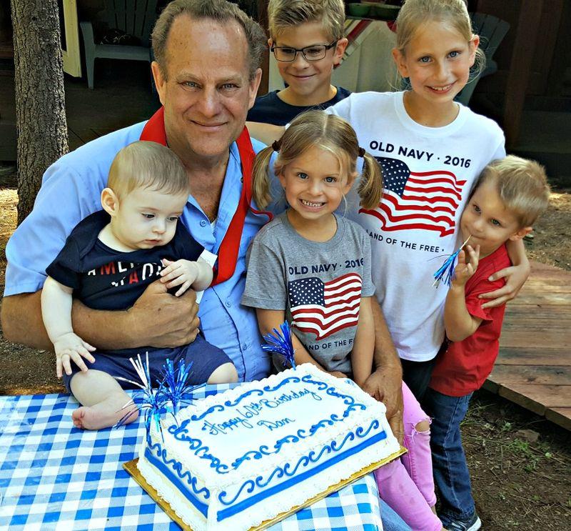 Cabin family work day papa grandkids