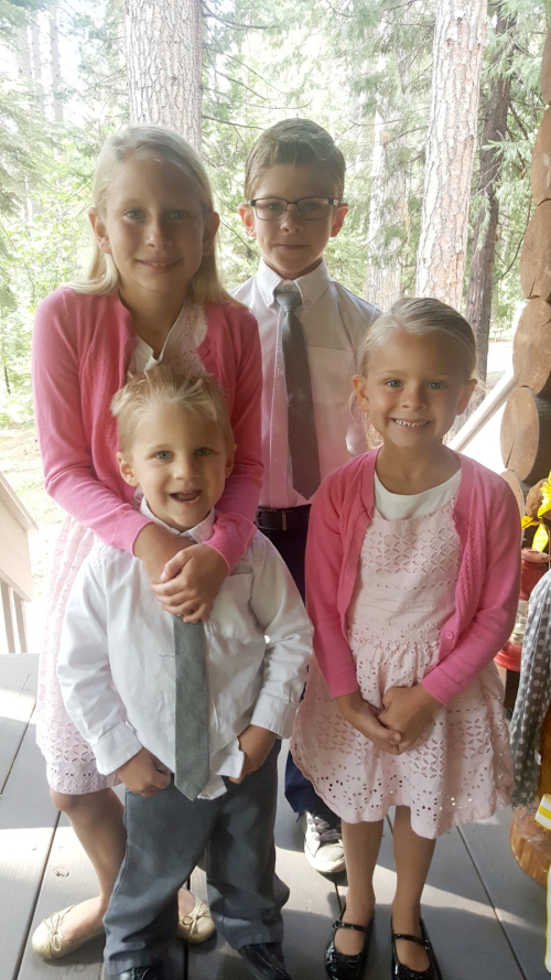 Cabin may 2016 kids ready for church