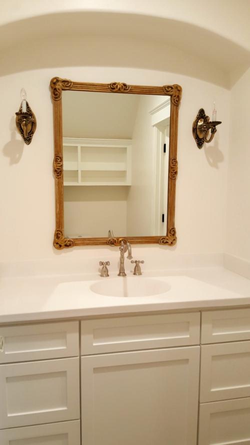 Poppy hill gold mirror