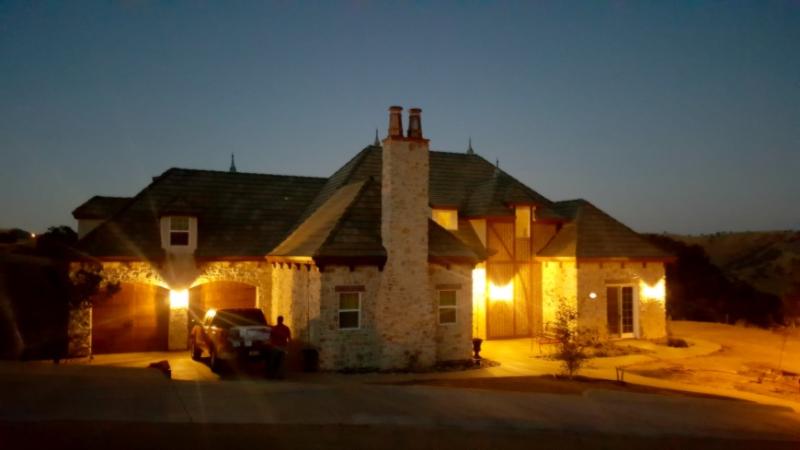 Poppy hill house at night