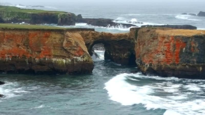 Coast trip rock bridge