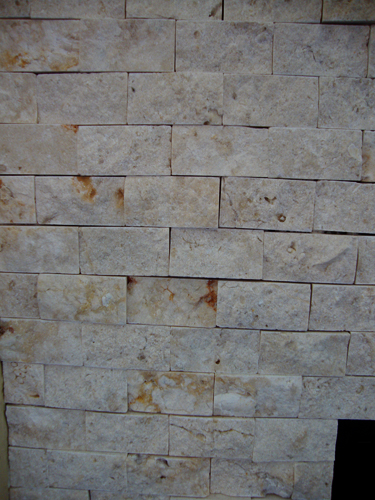 close up of fireplace tile.