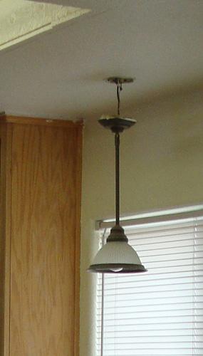 "Kitchen Light fixture- ""Before"""