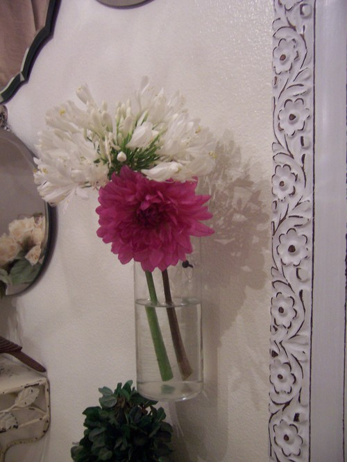 flower in bathroom