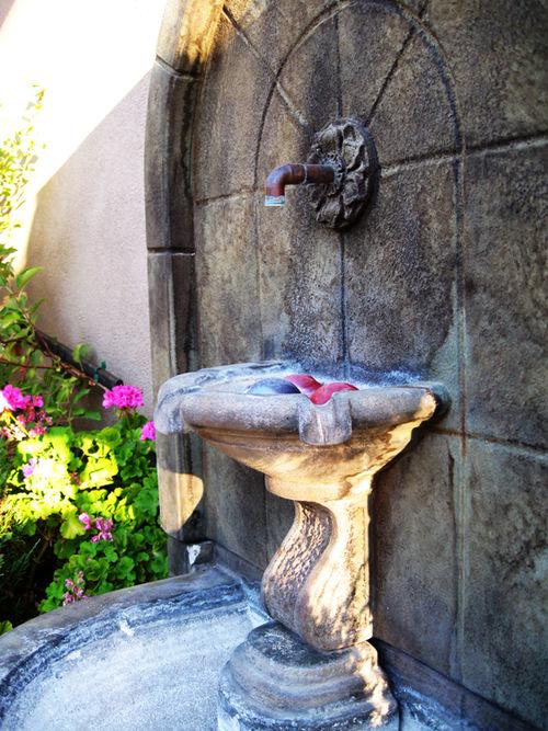 Back yard fountain
